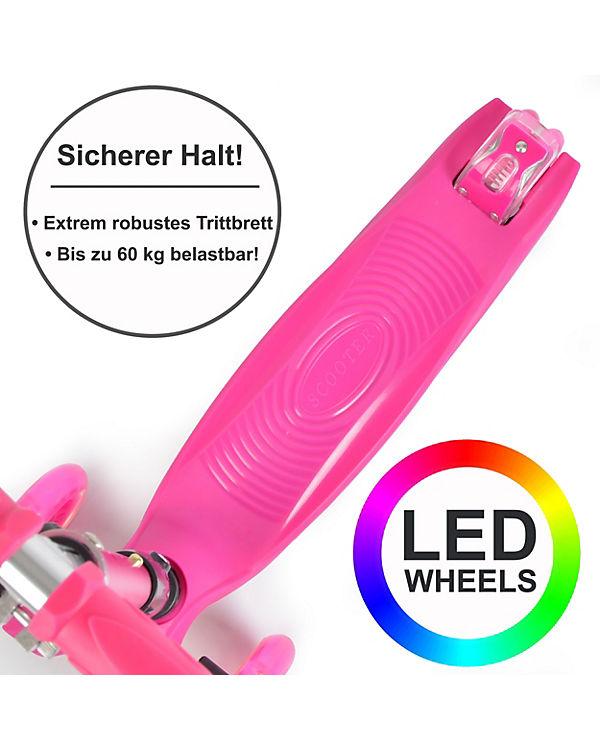 LED Kinderscooter klapp- und höhenverstellbar »Kids Whiz«, APOLLO KyD0Ca