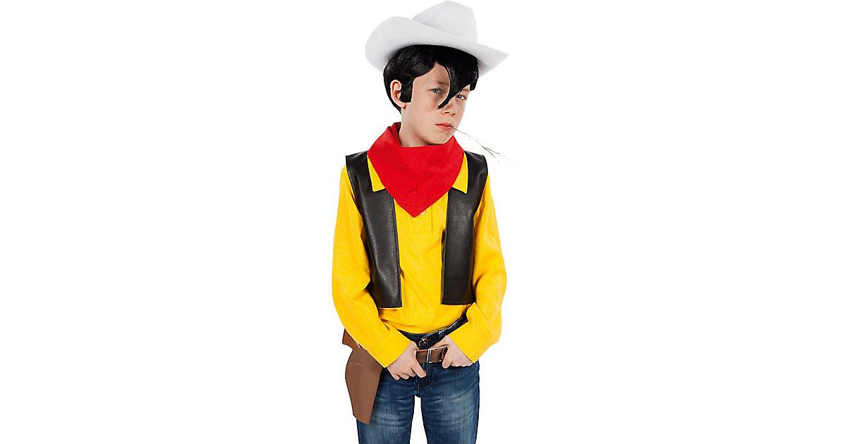 Kostüm Lucky Luke,4-tlg gelb/rot Gr. 110/116 Jungen Kinder