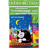 """Объемная аппликация HOBBY TIME """"Кот на крыше"""" из цветной бумаги"""