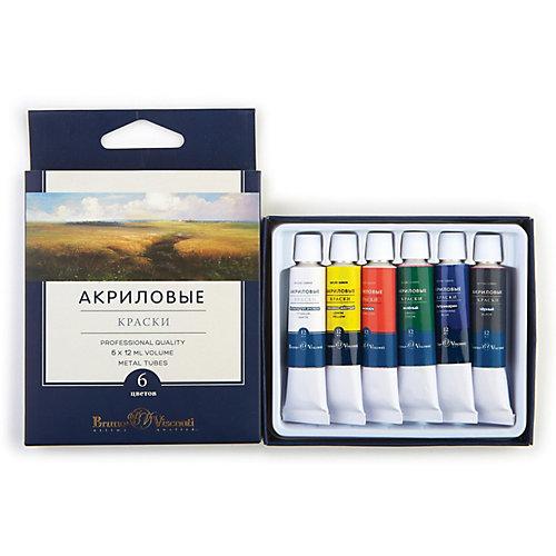 Акриловые краски BrunoVisconti, 6 цветов от Bruno Visconti