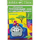 """Объемная аппликация HOBBY TIME """"Бегемотик"""" из цветной бумаги"""