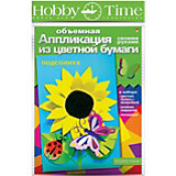 """Объемная аппликация HOBBY TIME """"Подсолнух"""" из цветной бумаги"""