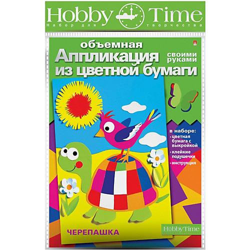 """Объемная аппликация HOBBY TIME """"Веселая черепаха"""" из цветной бумаги от hobby time"""