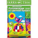 """Объемная аппликация HOBBY TIME """"Веселая черепаха"""" из цветной бумаги"""