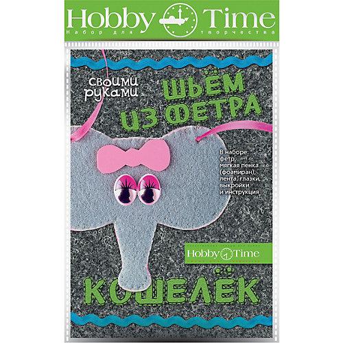 "Набор для творчества HOBBY TIME ""Шьем из фетра. Кошелек своими руками. Слоненок"" от hobby time"