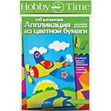 """Объемная аппликация HOBBY TIME """"Самолет"""" из цветной бумаги"""