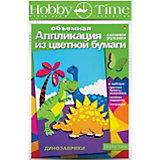 """Объемная аппликация HOBBY TIME """"Динозаврики"""" из цветной бумаги"""