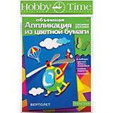 """Объемная аппликация HOBBY TIME """"Вертолет"""" из цветной бумаги"""