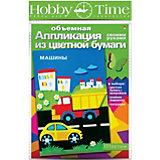 "Объемная аппликация HOBBY TIME ""Машины"" из цветной бумаги"