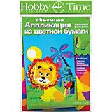 """Объемная аппликация HOBBY TIME """"Львенок"""" из цветной бумаги"""