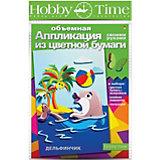 """Объемная аппликация HOBBY TIME """"Дельфинчик"""" из цветной бумаги"""