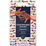 Пальчиковые краски BrunoVisconti HappyColor, 6 цветов
