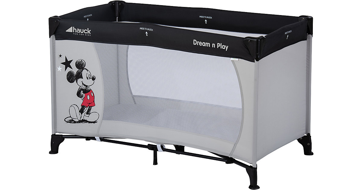 Reisebett Dream N Play, Mickey Stars grau/grün