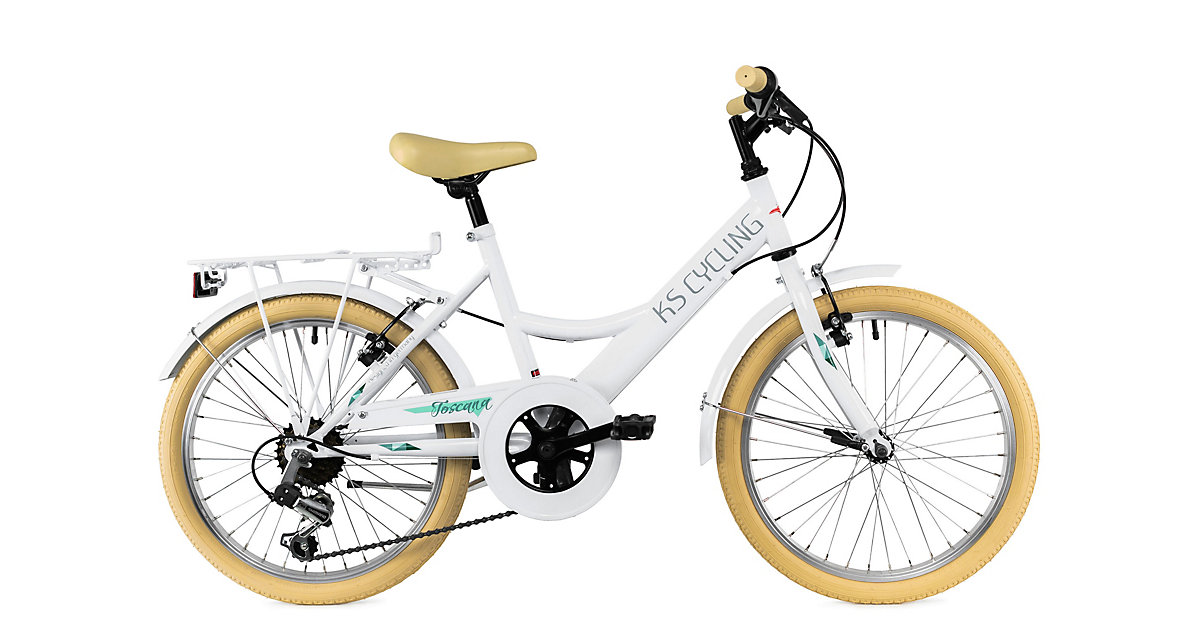 Kinderfahrrad 20'' Toscana RH 36 cm Fahrräder, Rahmenhöhe: weiß