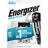 "Батарейки алкалиновые Energizer ""Max Plus"", тип АА/LR6, 1,5 V, 2 шт"