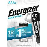 "Батарейки алкалиновые Energizer ""Max Plus"", тип ААА, 2 шт"