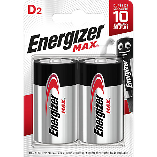 "Батарейки алкалиновые Energizer ""Max"", тип D/LR20, 1,5 V, 2 шт от Energizer"