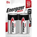 "Батарейки алкалиновые Energizer ""Max"", тип D/LR20, 1,5 V, 2 шт"