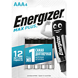 "Батарейки алкалиновые Energizer ""Max Plus"", тип ААА, 4 шт"