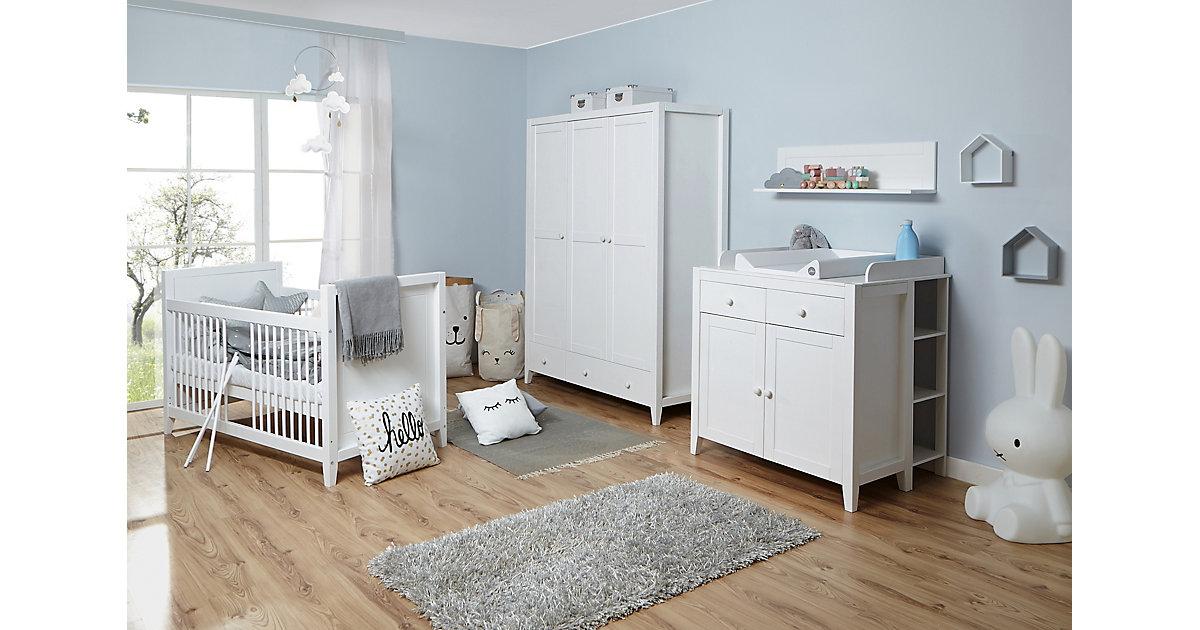 Image of Babyzimmer Rosa 4-teilig Massivholz Weiß gewachst weiß