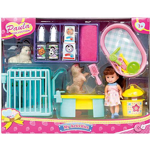 """Игровой набор Paula """"Ухаживаем за питомцем"""", с ванной от Paula"""