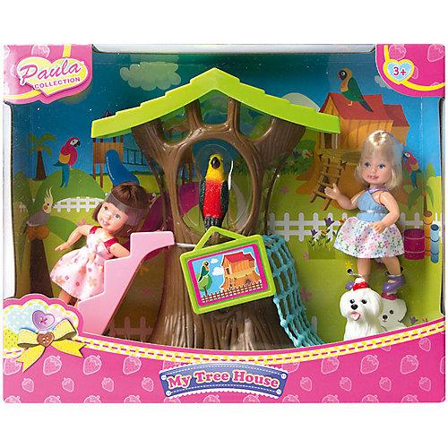 """Игровой набор Paula """"Домик в лесу"""", с разноцветным попугаем от Paula"""
