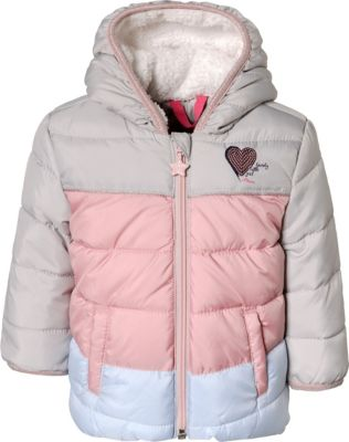 Baby Winterjacke mit Plüsch Kapuze für Mädchen, s.Oliver