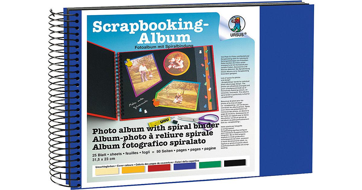 Scrapbook Album,23x31,5cm dunkelblau,Seiten schwarz