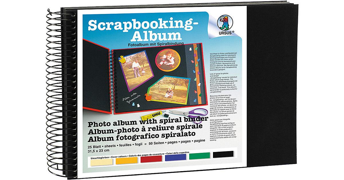 Scrapbook Album,23x31,5cm schwarz, Seiten schwarz