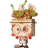 """Деревянный конструктор Wow Idea горшочек для растений """"Кролик Банни"""""""