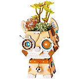 """Деревянный конструктор Wow Idea горшочек для растений """"Щеночек"""""""