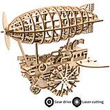 Деревянный конструктор Wow Idea  Дирижабль, с механизмом