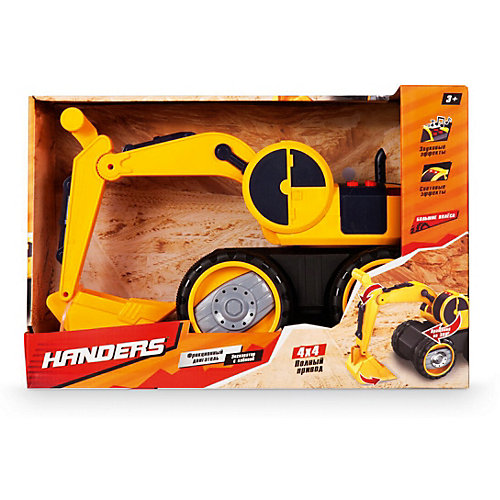 """Фрикционная машинка Handers """"Большие колёса"""" Экскаватор с кабиной, 41 см от Handers"""