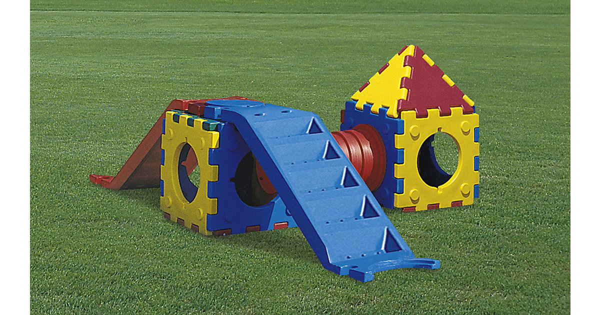 Cubic Toy Rutschenturm mit Treppe, Haus und Tunnel bunt