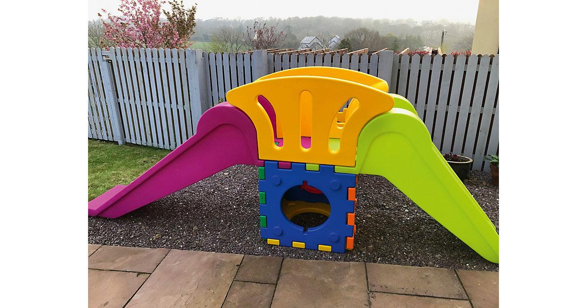 Cubic Toy Rutschenturm mit Treppe und langer Rutsche bunt