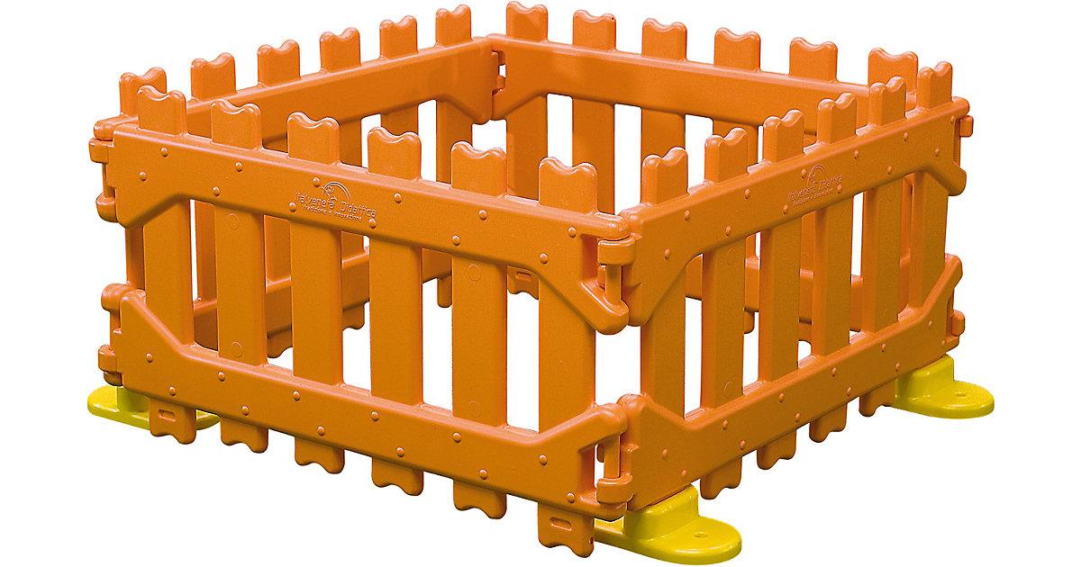 Play Pen Kinderzaun 4 Felder und 4 Füße beige