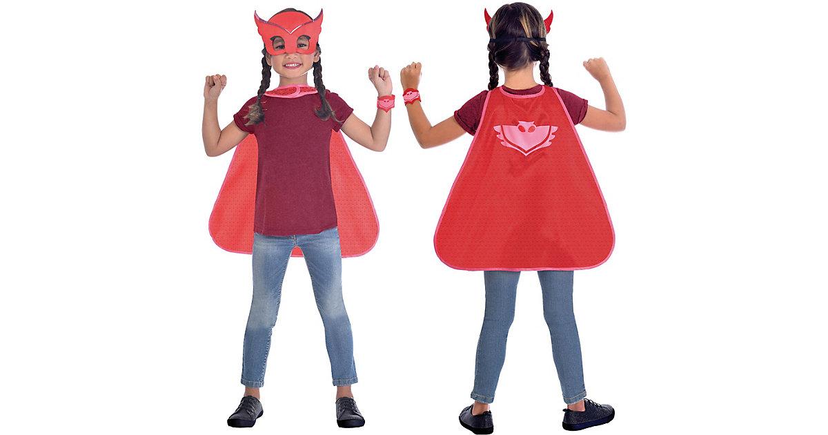 Kinder Umhang-Set PJ Masks Owlette, 3-tlg. rot Gr. one size Mädchen Kinder