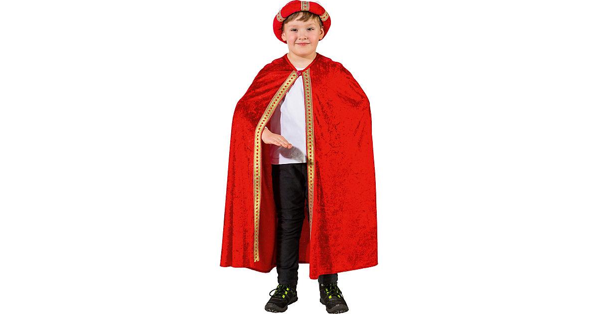 Umhang Balthasar rot Jungen Kinder