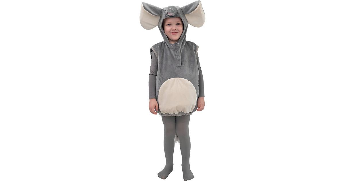 Kostüm Elefant grau/weiß Gr. 104