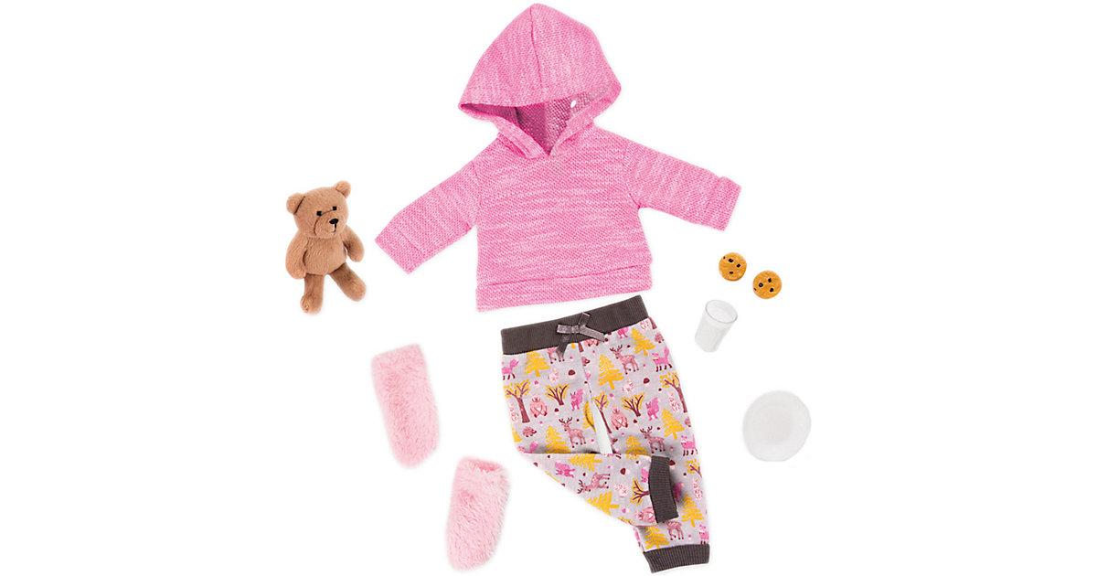 Deluxe Schlafanzug & Teddybär 46cm Puppen mehrfarbig  Kinder