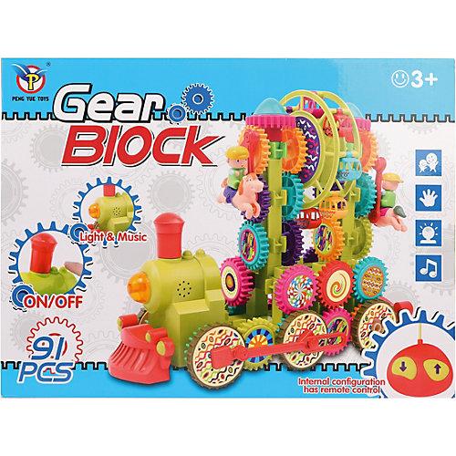 Конструктор Наша Игрушка Gear Block Поезд с радиоуправлением, 91 деталь от Наша Игрушка