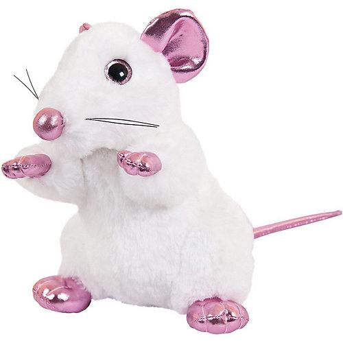 Мягка игрушка Abtoys Крыса белая с розовыми лапками 19 см от ABtoys