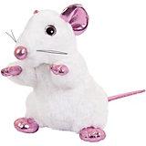 Мягка игрушка Abtoys Крыса белая с розовыми лапками 19 см