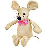 Мягкая игрушка Abtoys Мышка блестящая 16 см золотая