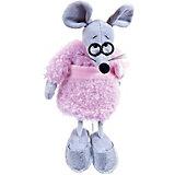 Мягкая игрушка Abtoys Мышка в розовом пальто 16 см