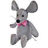 Мягка игрушка Abtoys Мышка блестящая 16 см