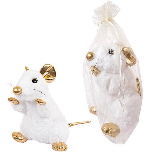 Мягкая игрушка Abtoys Крыса белая с золотыми лапками 25 см от ABtoys