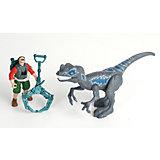 Игровой набор Chap Mei Мегалозавр и охотник