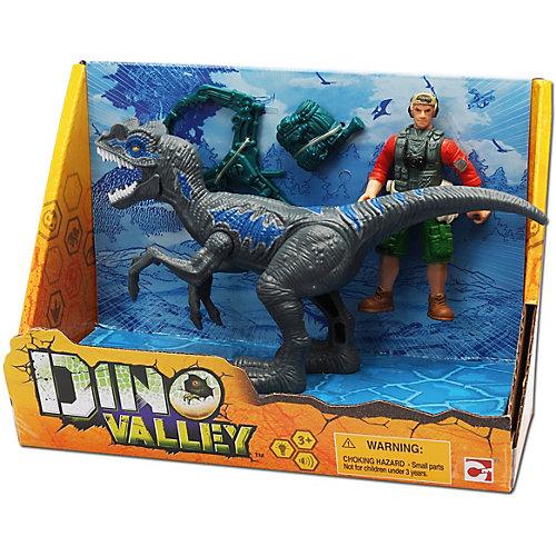 Игровой набор Chap Mei Мегалозавр и охотник от Chap Mei