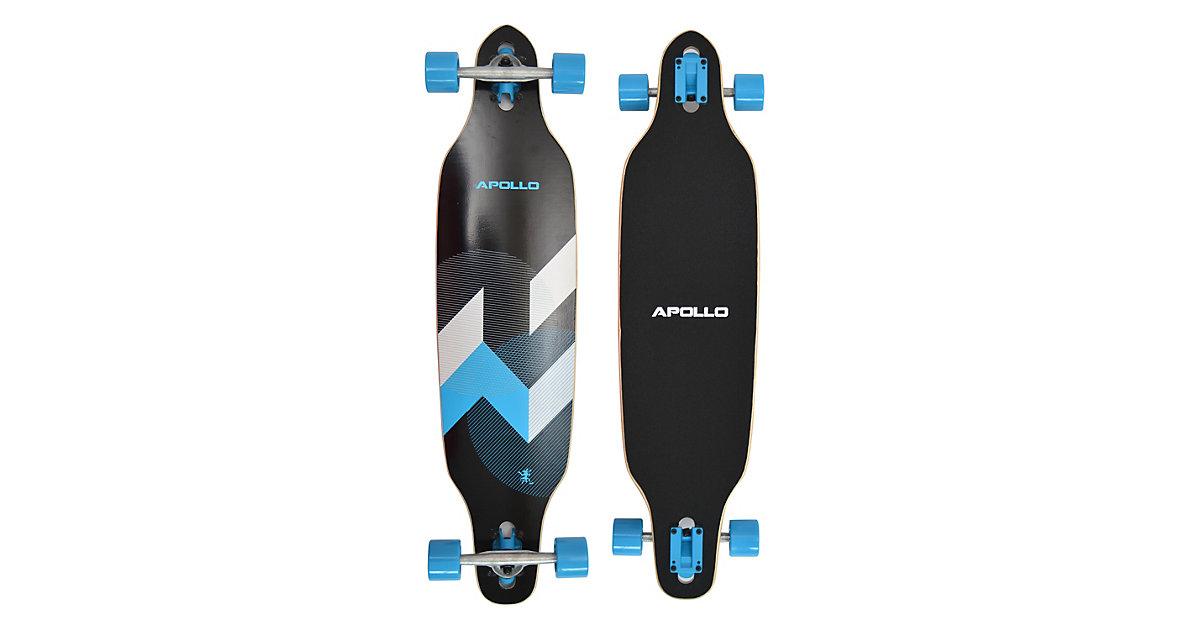 Twin Tip DT Longboard Matei schwarz/blau